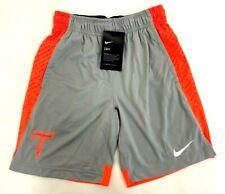 Nike Dry Boys Lacrosse Shorts Gray/ Orange Size Large Thompson Brothers Dri-Fit