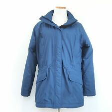 LL BEAN Blue Parka Thinsulate Insulated Quilted Lining No Hood Warm Womens L Reg