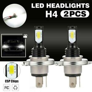 2x H4 LED Motorrad Scheinwerfer 3570 CSP Birne Fern- Abblendlicht Lampe 6000K DE