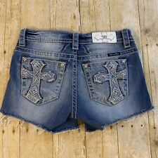 Miss Me Mid Rise Women's Thick Stitch Cut Off Jeans Shorts Size 26