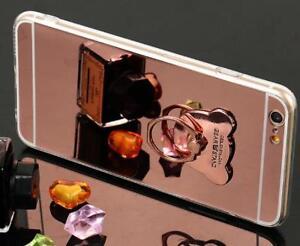 Luxury Women Bling bear ring holder kickstand Slim Soft Case For Samsung Galaxy