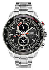 Seiko Men's Sportura Solar Perpetual Chronograph Stainless Steel Watch SSC357
