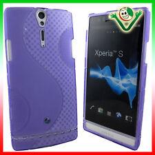 Pellicola display+Custodia WAVE Viola per Sony Xperia S LT26i cover aderente