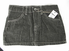 BNWT Girls Sz 5 Rivers Doghouse Brand Cool Black Denim Short Mini Style Skirt