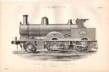 1880 Imprimé ~ Composé Express Locomotive F. W. Webb