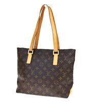 Auth LOUIS VUITTON Cabas Piano Shoulder Bag Monogram Leather BN M51148 73MD071