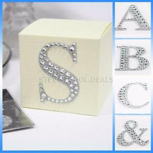 Large 5cm Letters Diamante Self Adhesive Post Box Favour Embellishment Craft NEW