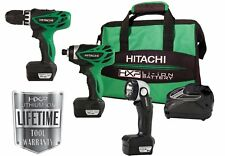 NEW! Hitachi 3-Tool KC10DFL12-Volt Peak Li-Ion Combo Kit