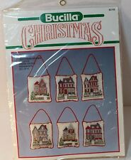 Bucilla Victorian Houses Cross Stitch Christmas Ornaments Kit NIP 82749