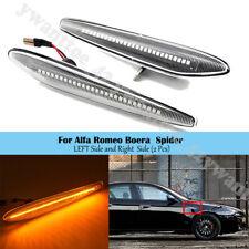 For Alfa Romeo 2005-2012 Pair Side Marker Light Arrow Turn Signal Blinker Lamp