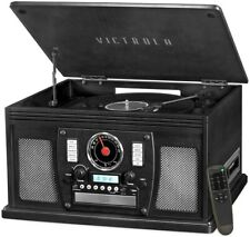 New listing Victrola Vta-600B-Blk Navigator 8-in-1 Classic Bluetooth Record Player Turntable