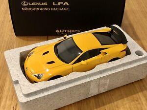 AUTOart 1/18 Lexus LFA Nurburgring Package Orange Metal Diecast Model Car