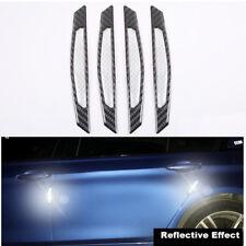 Reflective White Carbon Fiber Car Side Door Edge Protection Guards Trim Sticker
