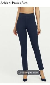 Spanx The Perfect Pant Ankle 4-Pocket Ponte Blue NWT Women's Size Medium