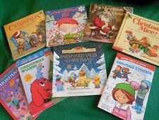 Lot of 8 Children's Christmas Books: Clifford*Farmyard Tales*Mice*Snowball*Elf