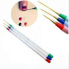 3pcs  Nail Art Brush Painting Drawing Line Pen Liner Thin Brushes Paint Manicure