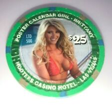 Hooters Casino las Vegas $25 Chip Limited Edition Centerfold Girl Brittany