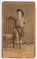 Bologna CDV Bambino elegante a 6 anni Foto originale albumina Anriot 1870c S752