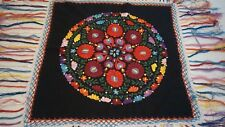 Vintage Large Antique Tablecloth Hungarian Matyo Handmade Embroidery Kalocsa