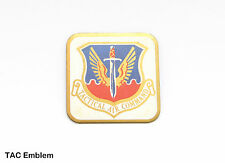 1 Original Vintage USAF Air Force Tactical Air Command Crest Logo on Brass Plate