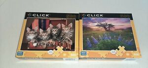Morning Marvel And Suitcase Kittens 2 Click 500 Piece Jigsaw Puzzle New Sealed