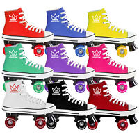 ✅ New Kingdom GB Canvas HI-PE Girls Womens Quad Roller Skates 50% Off Sale ✅