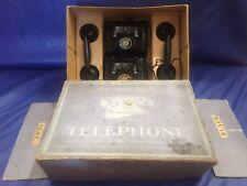 Chad Valley Bakelite Toy Phones Telephones in original box