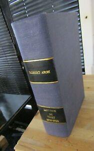 ROBERT ARON-HISTOIRE DE VICHY-GUERRE- Relié-1963-COLLABORATION-RÉSISITANCE-