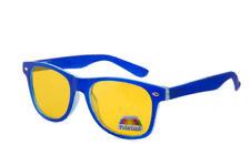 Occhiali da sole da uomo con lenti in blu senza marca e mantatura in metallo e plastica