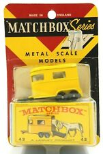RARE SEALED 1964 MATCHBOX NO. 43 PONY TRAILER WITH HORSES ~ NEW IN BLISTER PACK