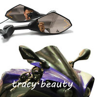 LED Motorcycle LED Turn Signal Racing Mirrors For Yamaha YZF R6 R6S YZF600R