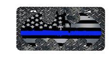 Thin Blue line Batman license plate, law enforcement, police, support