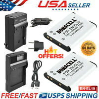 EN-EL19 Battery or Charger for Nikon Coolpix S3100 S3300 S4100 S6500 S4300 S5200