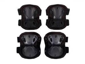 4pcs Set Tactical Elbow & Knee Pads for Training, Airsoft, Paintball and Hunting