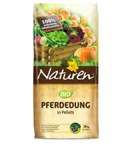 NATUREN Bio Pferdedung 20 kg NPK 2-2-2 Pellet Beetdünger Blumendünger Pferdemist