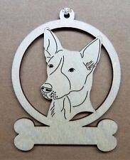 Canaan dog ornament wooden Christmas Gift D-25