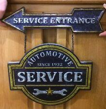 Service Entrance Arrow Automotive Service Vintage Style Hanging Wall Garage