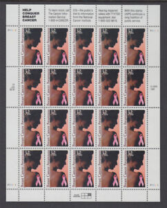 US #3081 Breast Cancer Awareness 32c Complete Sheet of 20 Mint Never Hinged