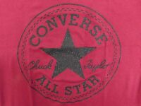 NEW WOMEN'S CONVERSE ALL STAR SOLID LOGO TEE SIZE US M  12438C