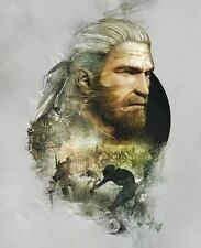 POSTER THE WITCHER 2 3 WILD HUNT WOLF LUPO GERALT OF RIVIA VIDEOGAME FANTASY #5