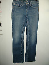 Silver Jeans Size 26 (27X32) Distressed Aiko Boot Cut Jeans Stretch 8-7948
