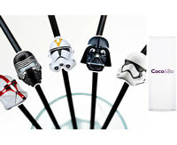 10 x Coco&Bo Star Wars Villains Straws - Party Drink Table Decorations