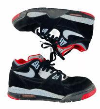 Nike Air FlIght 89 Black-Grey-University Red Shoes Size US 11 Men's 306252-022