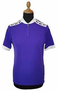 PEARL iZUMi Cycling Jersey L Men Purple Short Sleeve Made in USA Retro Shirt