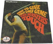 New listing GAY BREWER How To Give Your Golf Game The Master's Touch SEALED PROMO LP