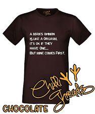 A MANS OPINION Rude Funny Feminist Joke Adult Humour T-shirt Vest Tshirt