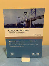(New) CIVIL ENGINEERING PE PROBLEMS & SOLUTIONS (Kaplan 17th edition)