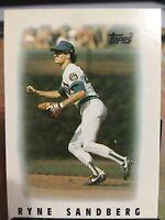 Ryne Sandberg 1986 Topps Mini League Leaders,Chicago Cubs, Vintage baseball