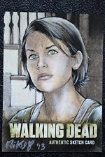 Walking Dead Season 2 Maggie AP Sketch Art by Mikey Babinski Trading Card CZE