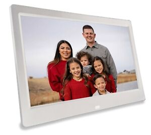 Phone2Frame 10 Inch White Digital Frame Gets Pictures to the Frame Without Wi-Fi